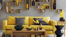 Yellow Grey Living Room Contemporary Rooms