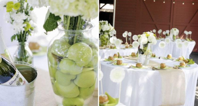 Yellow Lime Wedding Colors Cape Cod Style Green