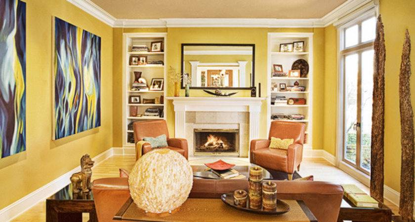 Yellow Living Room Red Accents Best Cars Reviews