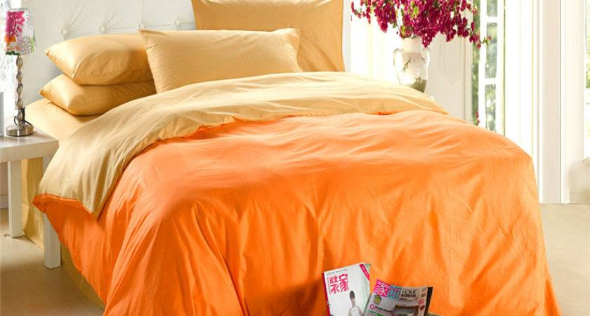 Yellow Orange Bedding Set King Queen Quilt Doona