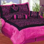 Zebra Satin Purple Black Pink White Comforter Set Queen Ebay